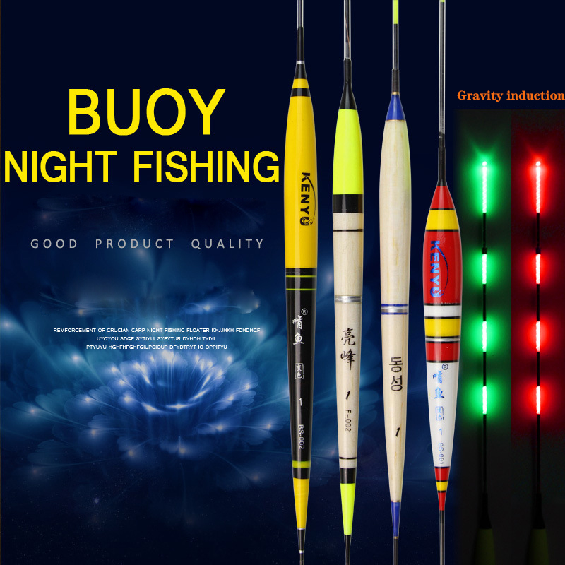 Smart Fishing Float Bite Alarm Fish Bite Bait Gravity Sensor LED Light Color Change Automatic Night Electronic Changing Buoy New