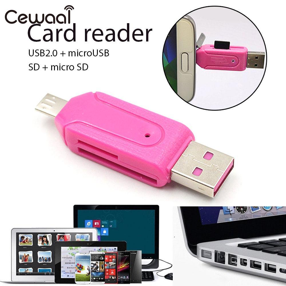Cewaal Computer mobile tablet generic 480Mb/S USB 2.0 Card Reader Memory Card Reader Micro SD Card Reader ...