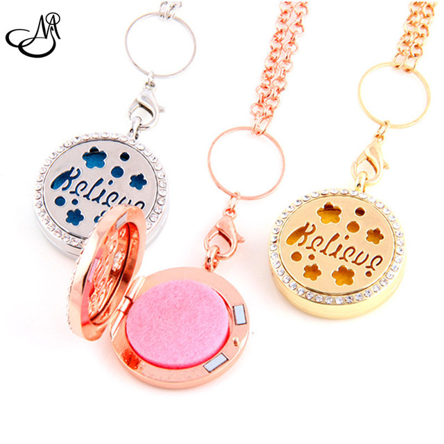 9pcs SilverGoldRose Gold Alloy Oil Diffuser Locket 30mm Letter