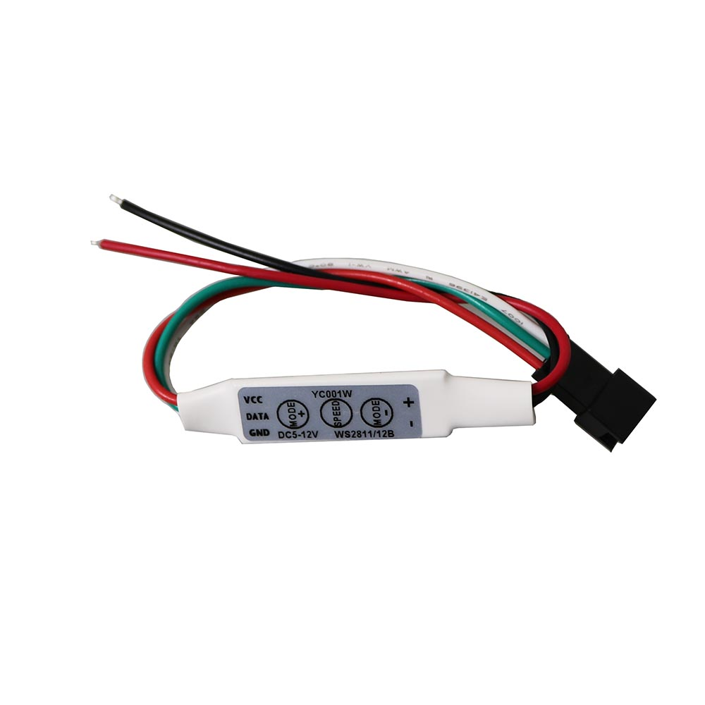 3PIN 3 Key Mini RGB Controller Micro-Controller for DC5-24V Pixels Dream Color WS2811 WS ...