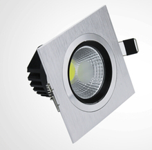 High Quality Recessed Square Double lamps Dimmable 10w COB LED downlight aluminum AC90V-260V FREE SHIPPING
