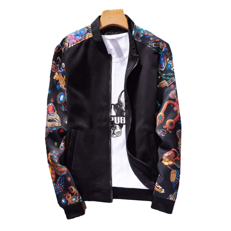 Korean Smart Casual Jacket Men Street Wear Patchwork Hip Hop Mens Jackets Palace Pilot Windbreaker Plus Size Clothing Jk6002