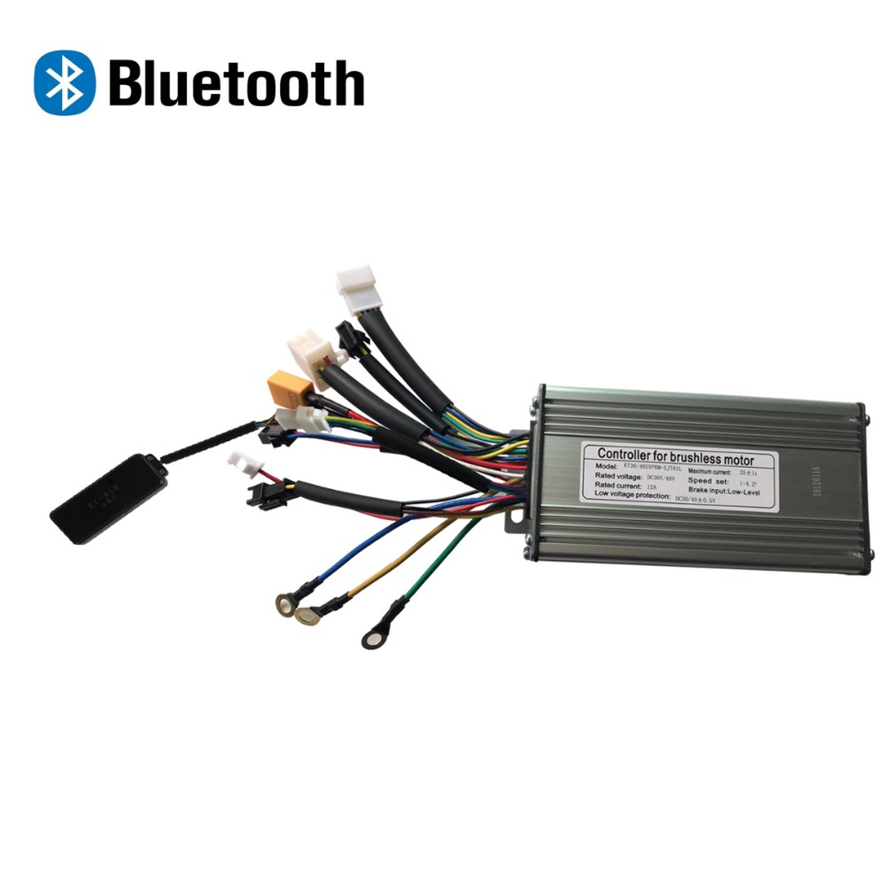 Electric Bicycle Bluetooth Controller 36 48v 500W Ebike Brushless KT 9 Mosfet controller Sine wave With