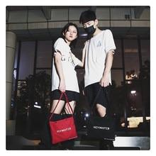 цена на New 2019  Women summer Shoulder Bags Solid Zipper Bags Men Small Black Canvas Crossbody Bags Female  Unisex Shopping Bag