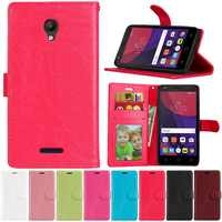 """Luxury Soft PU Leather Back Cover Case For Alcatel One Touch Pop Star 3G 5022D 5022 5022X OT5022 Case 5.0"""" Flip Stand Phone Bags"""