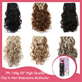 50Set Natural Hair Extensions 50cm 20inch Heat Resistant Synthetic Hairpiece 7pcs/set Wholesale Women Clip In Hair Extension 999