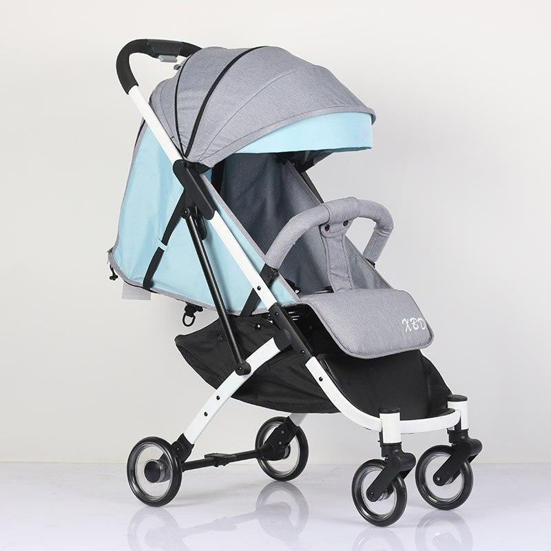 Abdo 2019 nouveau Portable pliant blanc cadre poussette léger landau bébé chariot parapluie voyage poussette sur l'avion