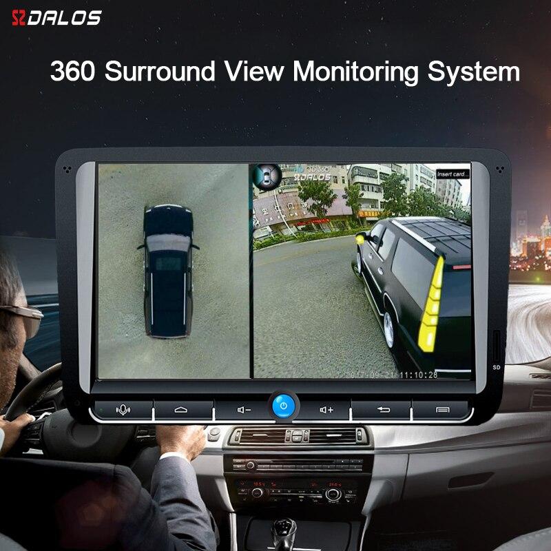 SZDALOS Para SUV HD 360 Graus 3D Surround de Condução Panorama Com 4 Câmera Do Carro 1080 p gravador de Vista Pássaro