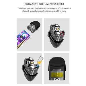 Image 3 - Original New IJOY AI EVO Resin Pod vape pen Starter 1100mAh Kit 0.7 Mesh/1.4ohm Coil Pod Vape Kit VS Lost Vape lyra minifit kit