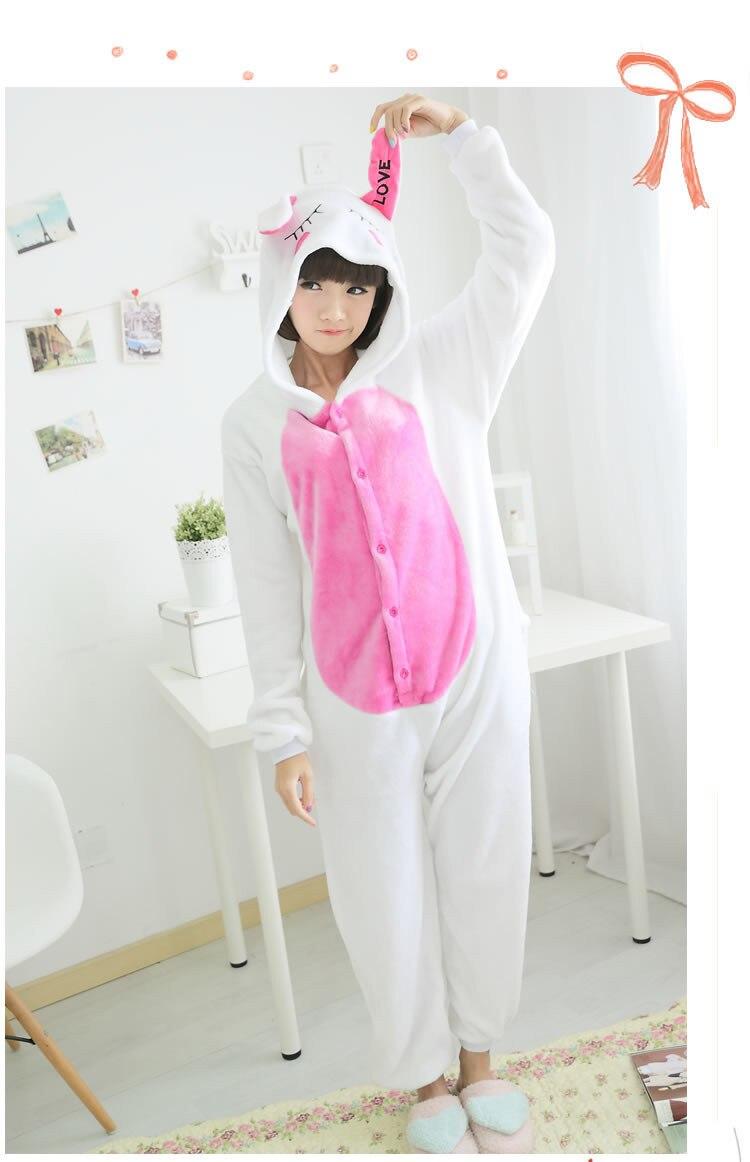 New Anime Animal lovely rabbit Cosplay Pajamas Adult Cosp Unisex Carnival Halloween Onesie Jumpsuit