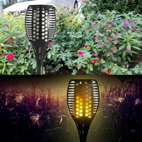 Solar Pathway Path Lights Outdoor Waterproof Solar Torch Lamp 96Led Landscape LED Lighting