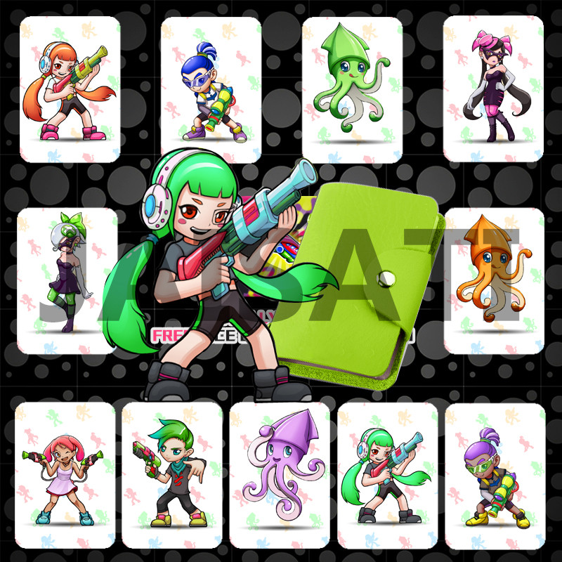11pcs/set  Splat 2 Full Set NTAG215 Printed NFC Card Written by Tagmo Can Work For Switch