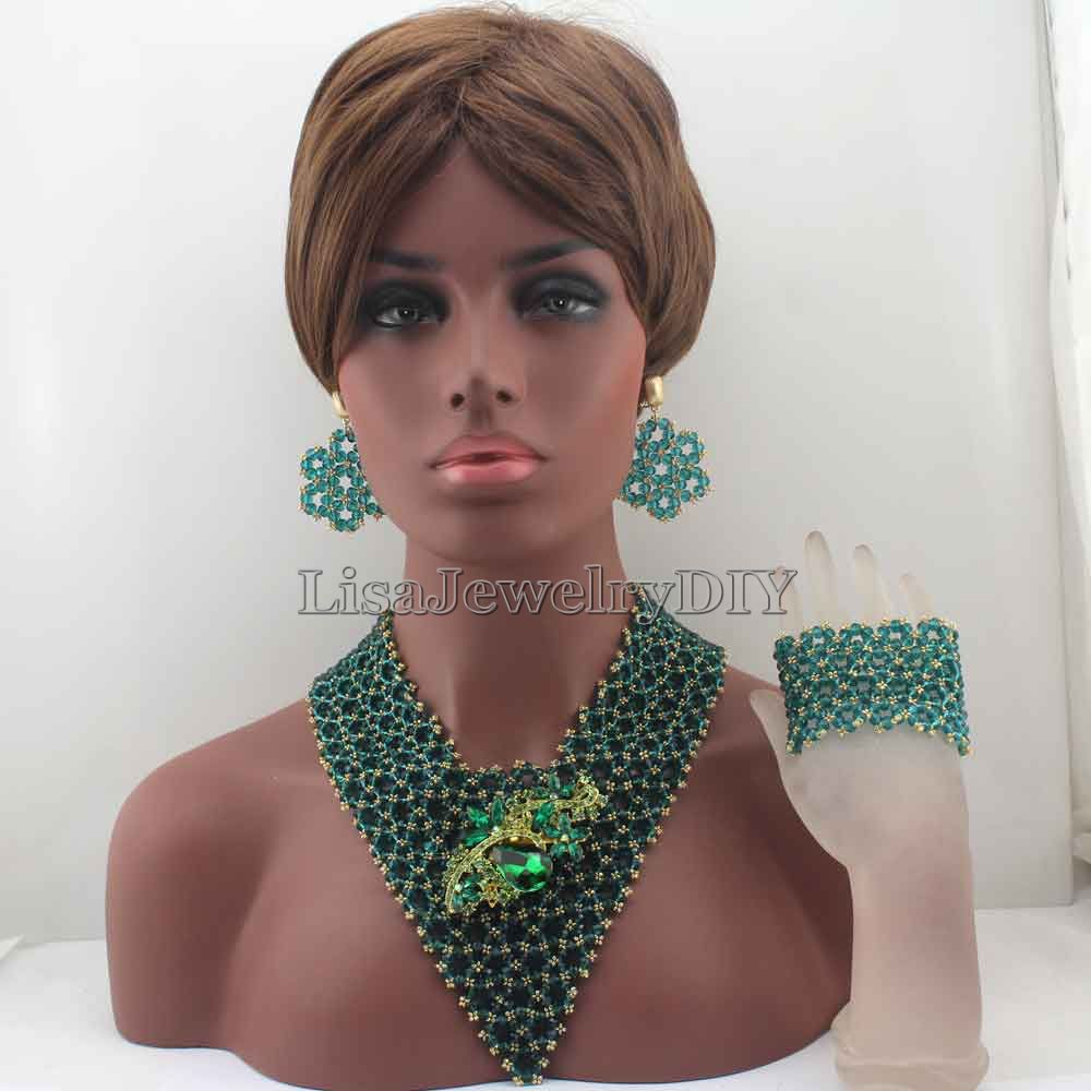 Exclusive Peacock Green Indian Wedding African Beads Jewelry Set Women Costume Chunky Necklace Set Bride Free Shipping HD8366Exclusive Peacock Green Indian Wedding African Beads Jewelry Set Women Costume Chunky Necklace Set Bride Free Shipping HD8366