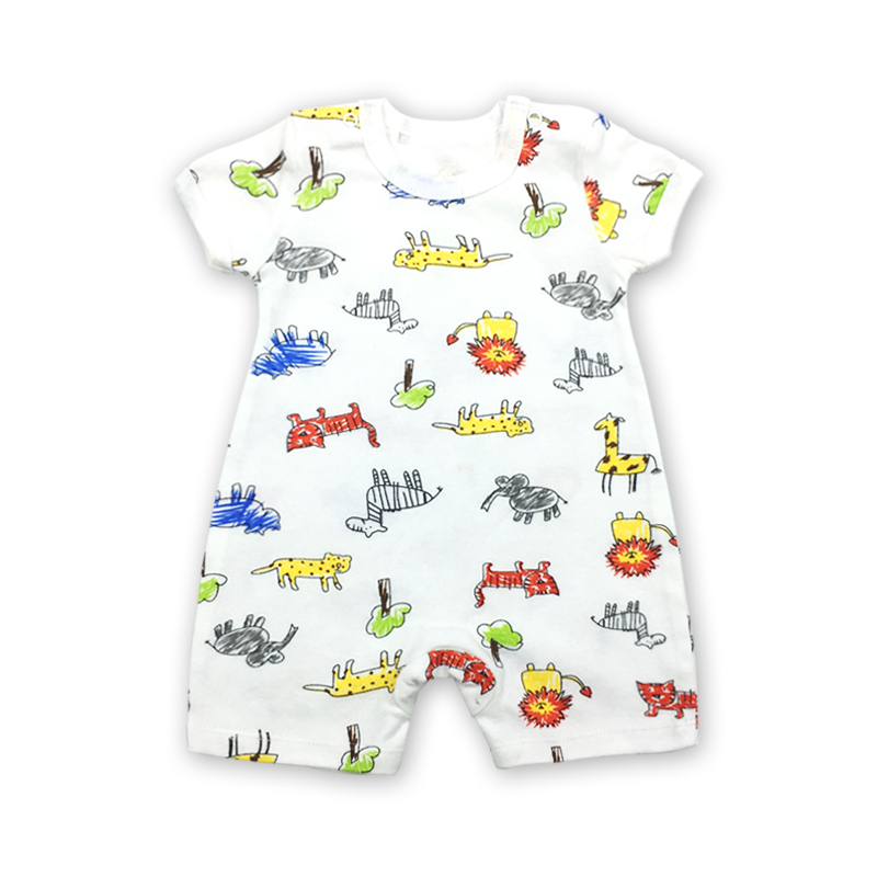 Newborn Summer Rompers Clothes Son Cartoon Baby Boy girl Short Sleeve romper Infant Toddler Costume Jumpsuits 2018 New