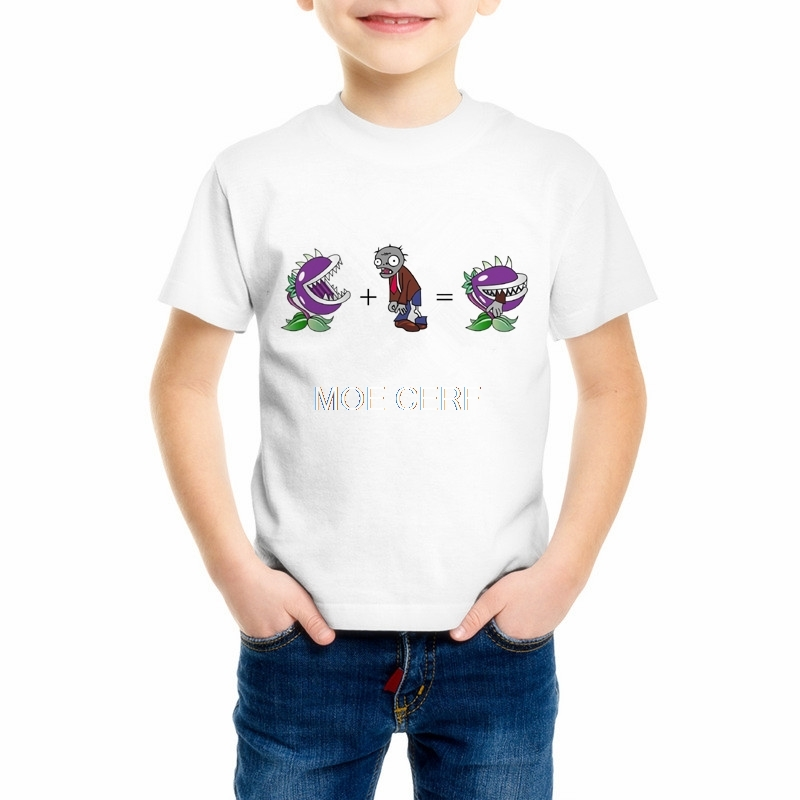 Children Plants Vs Zombies T-Shirts Boys Short Sleeve T shirt Kid Nut wall Tops Girls Cartoon Game Cute Baby Clothes 55C-16Children Plants Vs Zombies T-Shirts Boys Short Sleeve T shirt Kid Nut wall Tops Girls Cartoon Game Cute Baby Clothes 55C-16