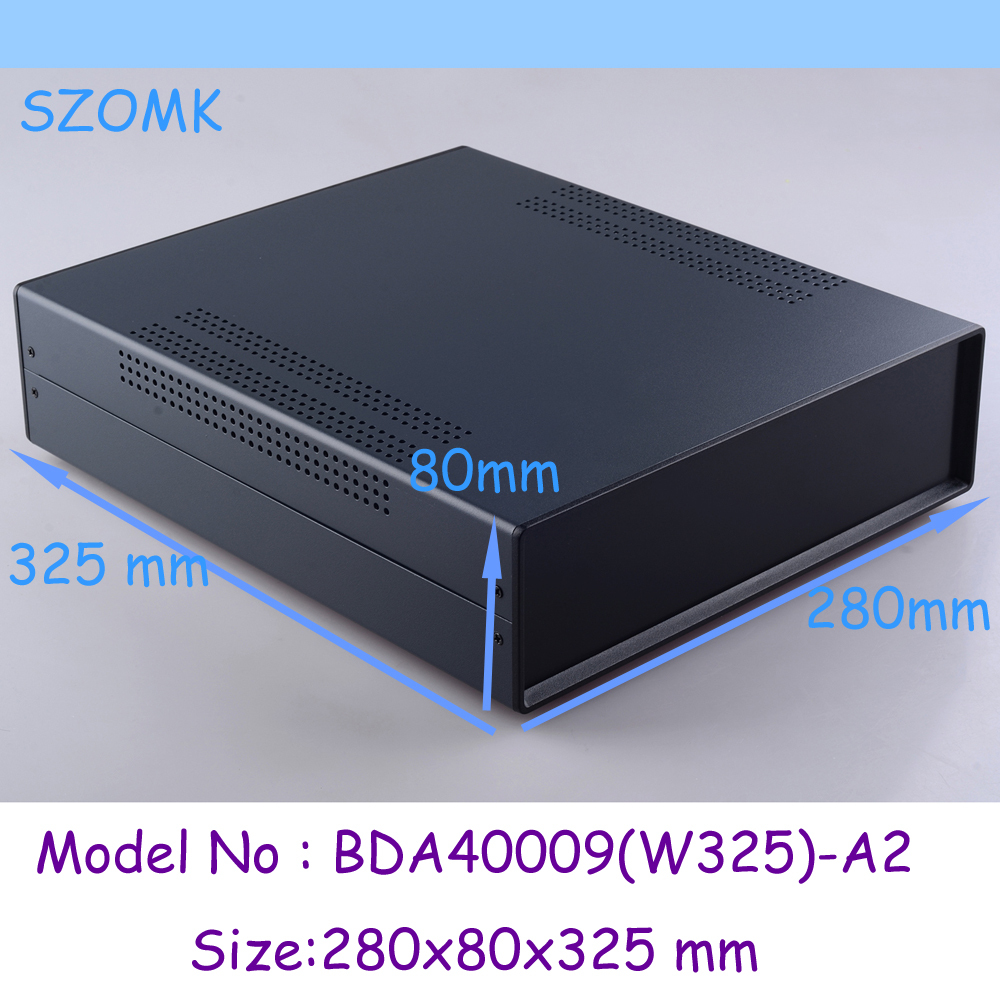 (1pc)280x80x325mm instrument enclosure electronic steel iron box iron project box enclosures for electronics 1 220x120x195 mm 2014 new electronics metal enclosure box for electronics and pcb instrument box industrial enclosures