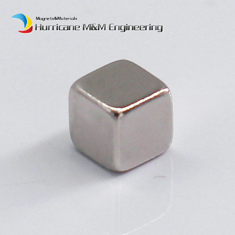 1 Pack N42 NdFeB Block 3x3x3 (+/-0.1)mm Small Cube Magnet Bar Strong Neodymium Permanent Magnets Rare Earth Lifting Magnets