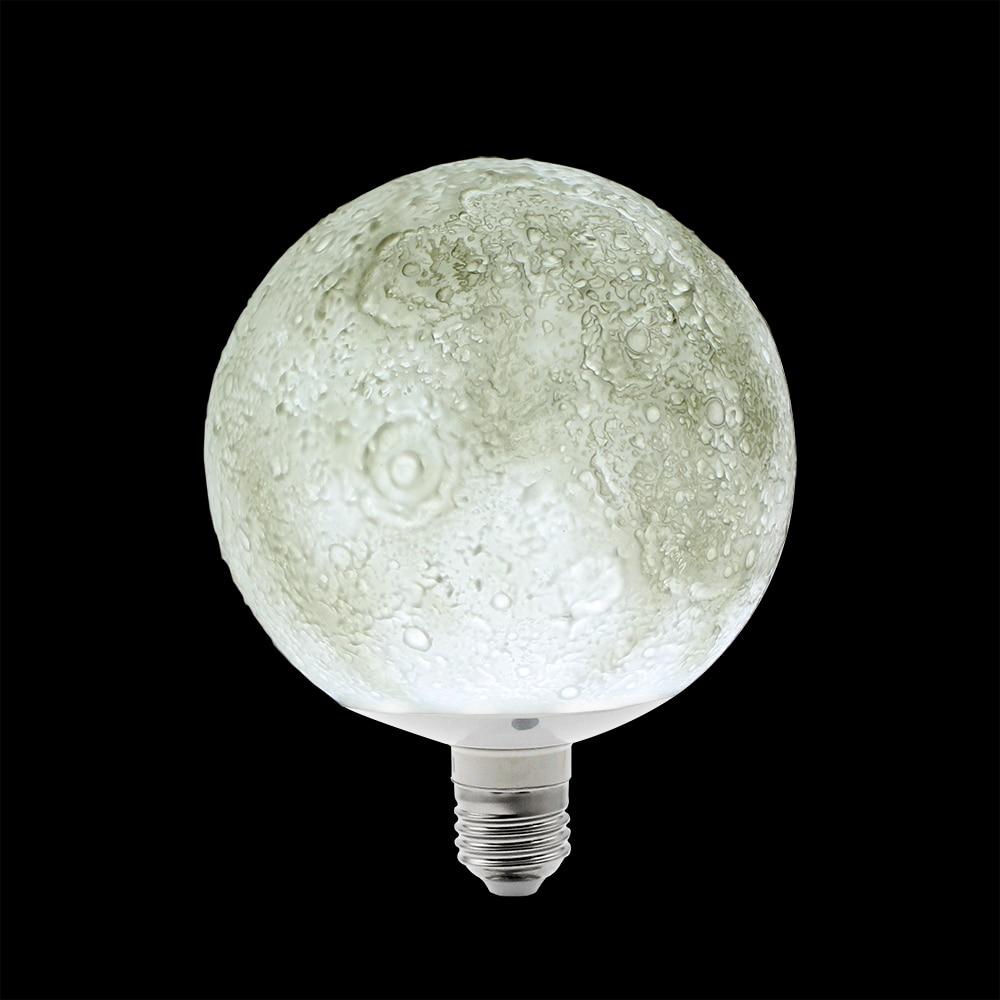 цены  New arrival 3D Magical Moon light Table lamp Desk book light for home decor atmosphere e27 LED night light 13/18CM e27 led light