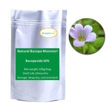 2016 Бесплатная доставка чистая природа Bacopa Monnieri Extract Powder Bacopaside 50% 100 г/пакет