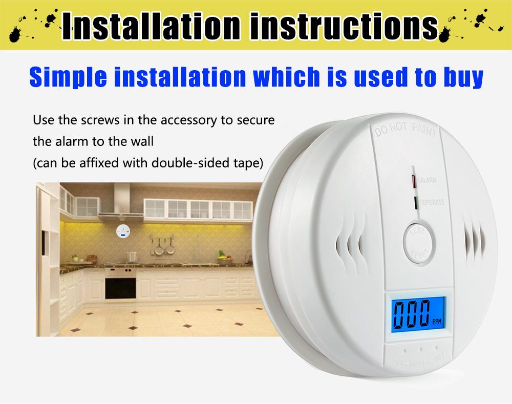 Carbon Monoxide Alarm Detector 3