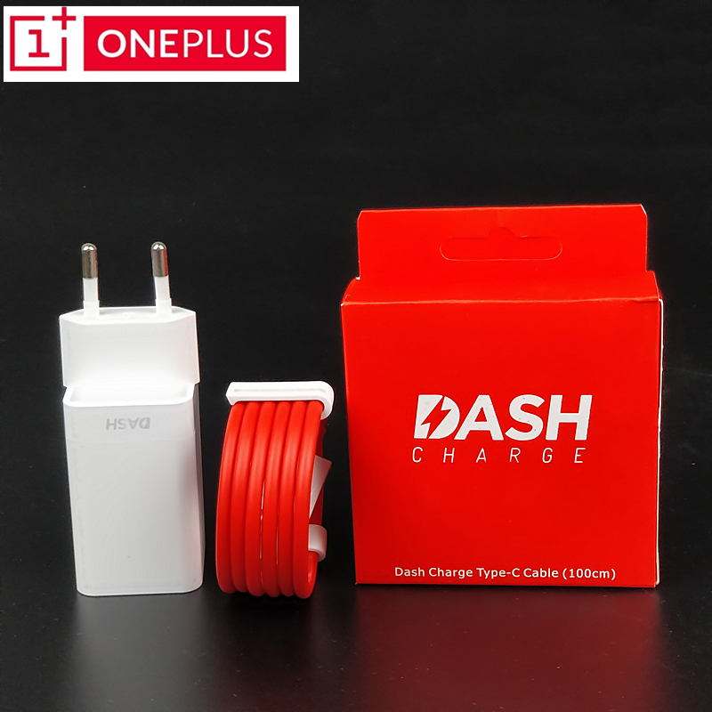 Original ONEPLUS 6 Dash charger 5t 5 3t 3 One plus Smartphone EU Power Supply Unit Usb Adapter Fast charge Type C Dash Cable