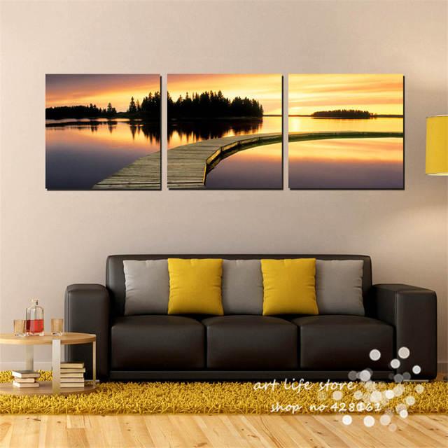 3 Panels Malerei Wandkunst Bilder Alle Schönheit Seascape Brücken Auf  Zukünftige Beste Gefühl Für Wohnzimmer Leinwand