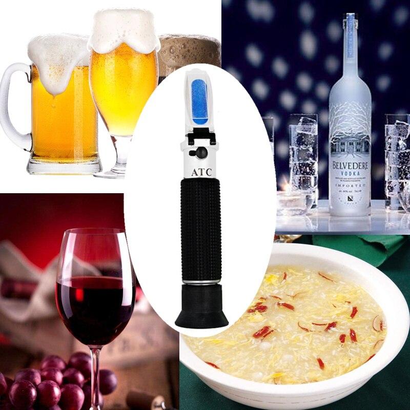 Portable Hand Held 0-80% alcoomètre Alcool réfractomètre alcool de boisson alcoolisée Contenu Testeur avec ATC 39% off