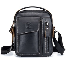 Casual Genuine Leather Men Shoulder Bag Crossbody Bag  Classic Fashion Travel Man Messenger Bags High Quality Small handbags недорого
