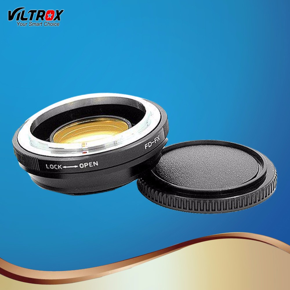 Viltrox FD-FX Reducer Speed Booster Optical Lens Adapter For Canon FD mount lens to Fuji FX X-Pro1 X-E2 X-M1 X-A SR/X-600 Camera fotga fd eosm canon fd lens to canon m mount adapter black