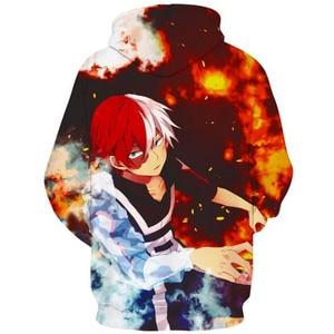 Image 3 - อะนิเมะMy Hero Academia Todoroki Shotoเครื่องแต่งกายคอสเพลย์บุรุษและสตรีCasualกีฬาเสื้อกันหนาวยี่ห้อใหม่