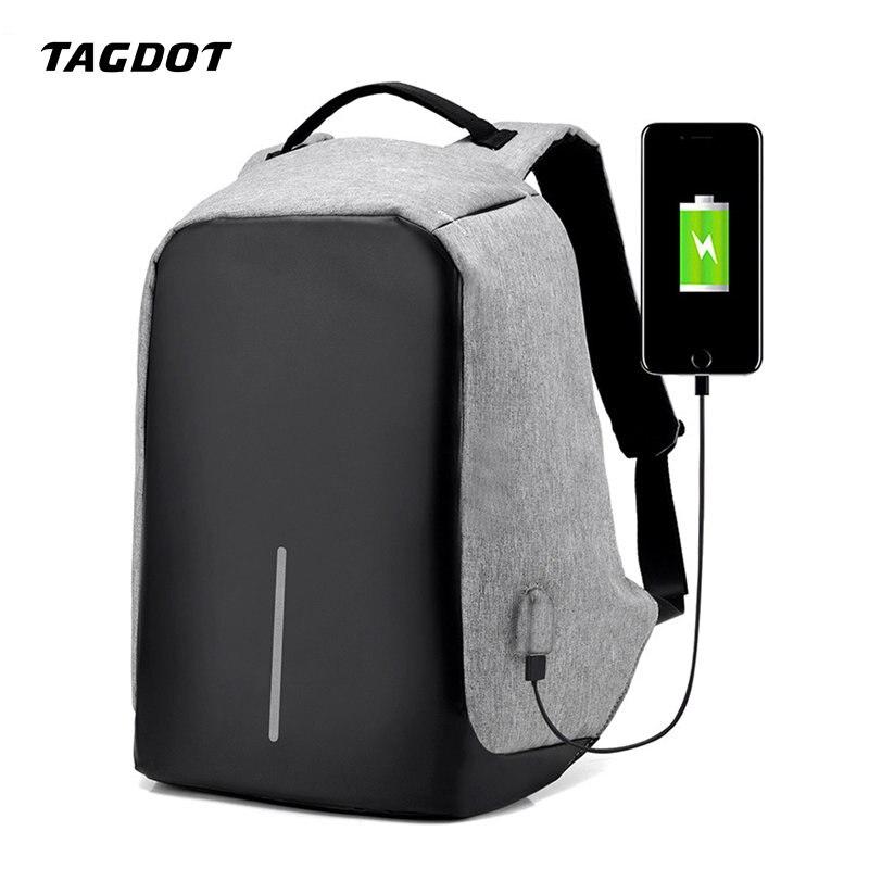 Multifunction Unisex Anti Theft USB Charging Anti Theft Backpack Men 15.6 Inch Laptop Waterproof Travel Women School Backpack