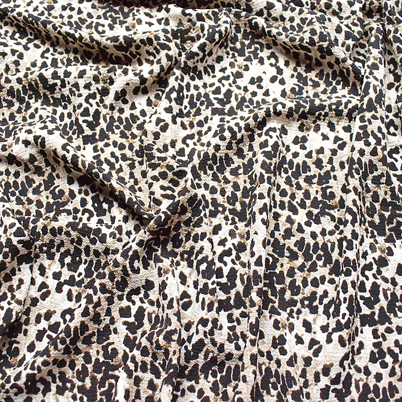 Home 1meters Price,new Bubble Chiffon Fabrics Summer Printed Fabrics Small Leopard New Clothing Fabrics