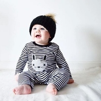 New Cute Spring and Autumn Casual Romper Infant striped Long Sleeve Children 's Outdoor Clothes FOR 0-2Y