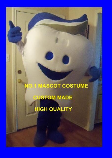 Dent avec dentifrice mascotte costume adulte dessin animé personnage anime cosply costumes santé publicité mascotte fantaisie robe 1816