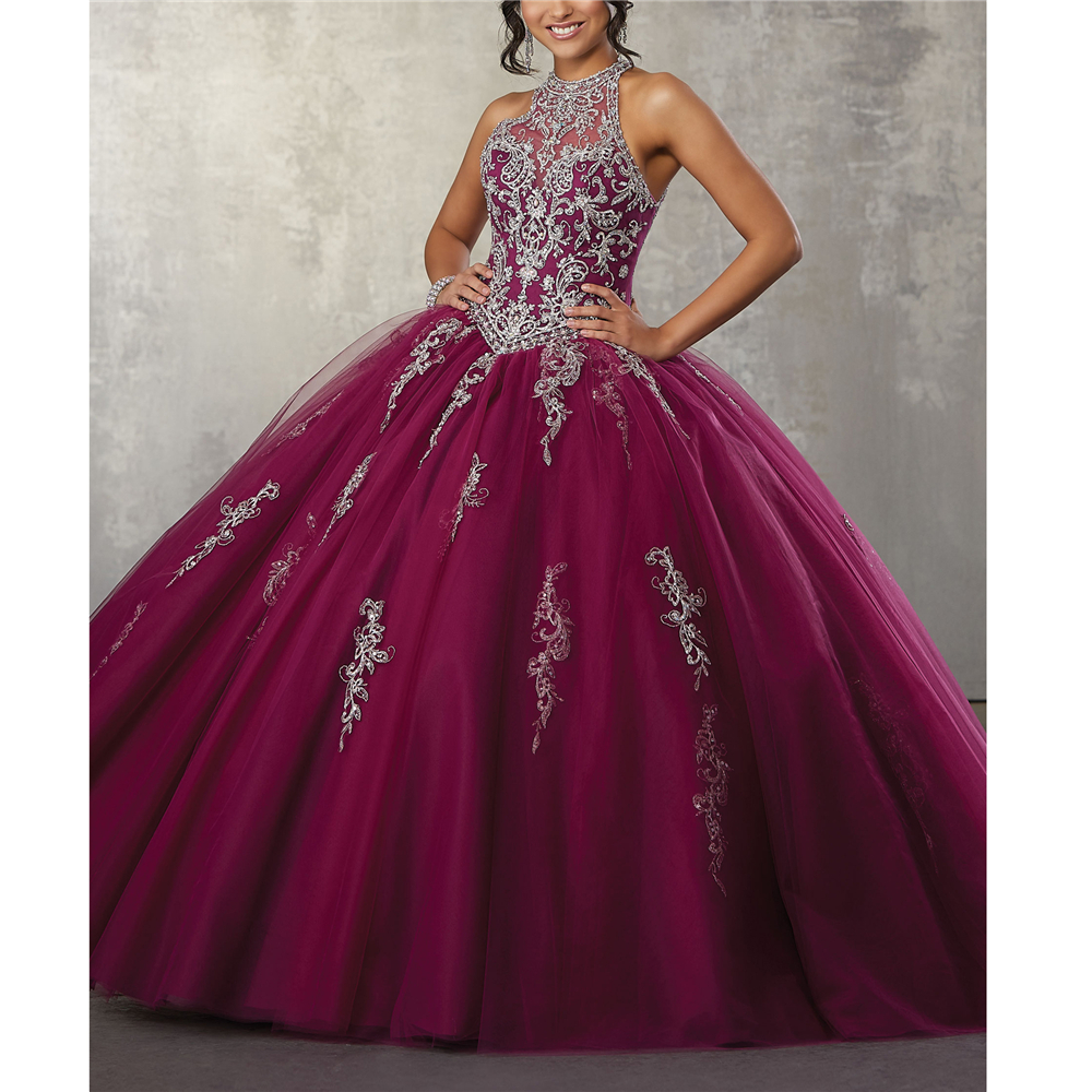 Vintage High Embroidery Appliques Beading With Jacket Tulle Vestidos De 15 Anos Quinceanera 2019 Quinceanera Dresses 2019(China)