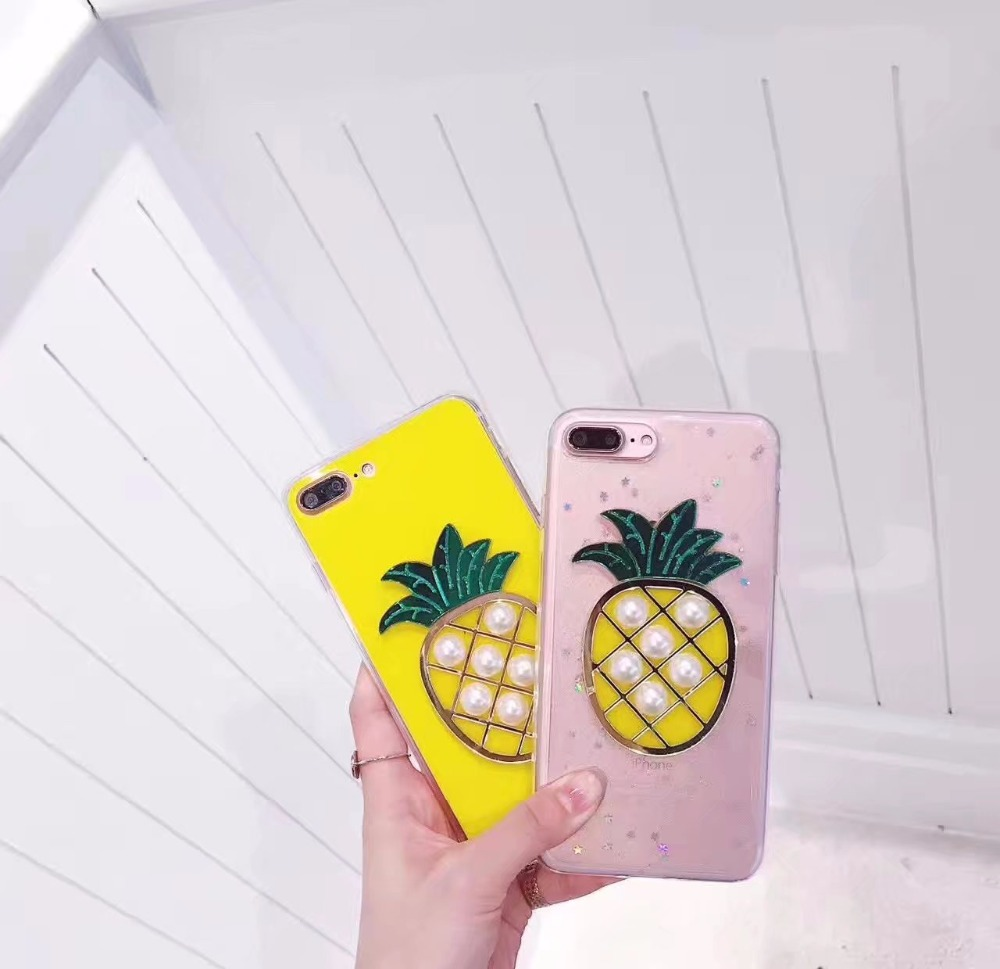 buy popular b20ba 2a673 US $2.99 |Zxtrby Luxury Glitter Powder DIY pearl pineapple Phone Case For  iPhone 6 6S Plus 7 7 Plus Soft TPU Back Cover Coque on Aliexpress.com | ...