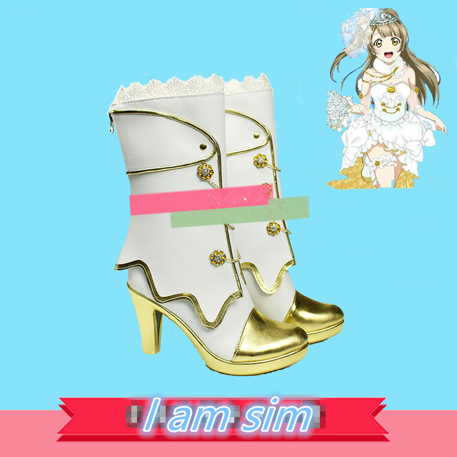 Love Live! Eli Ayase Ellie Kousaka Honoka Minami Kotori Sonoda Umi Cosplay  Wedding White Shoes c3b333bd286e