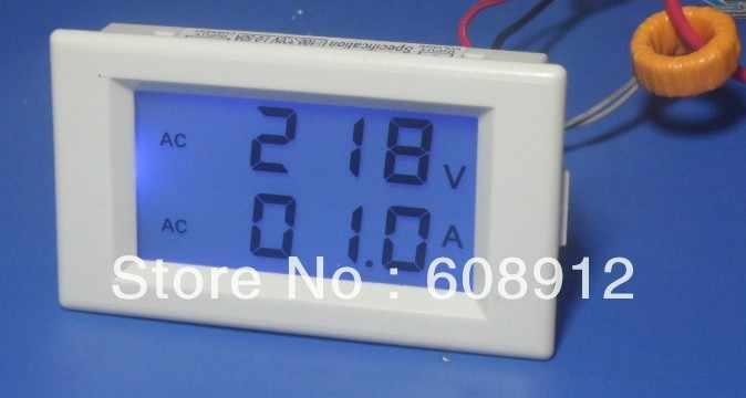 D69-2042 цифровой вольтметр Амперметр Панель Крепление Вольт Ампер метр 2 в 1 двойной выход