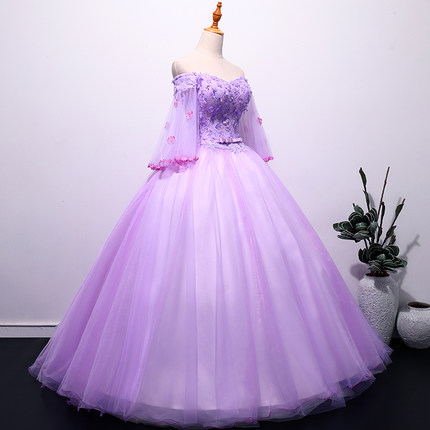 medieval purple ball gown