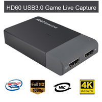ezcap261M USB 3.0 HD Video game Capture 4K 1080P Game Live Streaming Video Converter Support 4K Video for XBOX One 360 PS4 WiiU