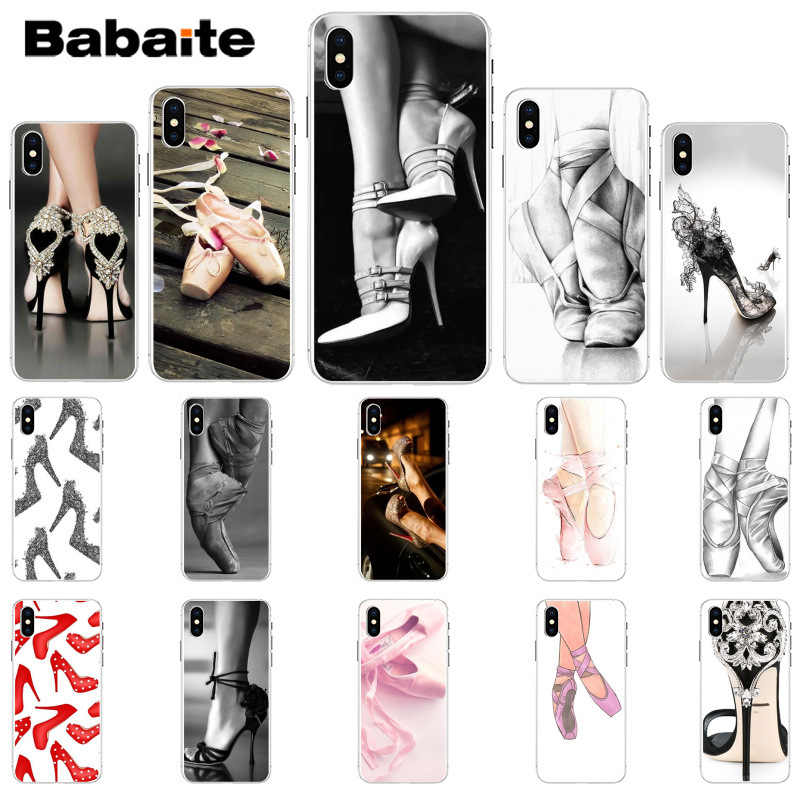 Babaite High heels heeled shoes ballerina TPU Soft Silicone Phone Case Cover for Apple iPhone 8 7 6 6S Plus X XS MAX 5 5S SE XR