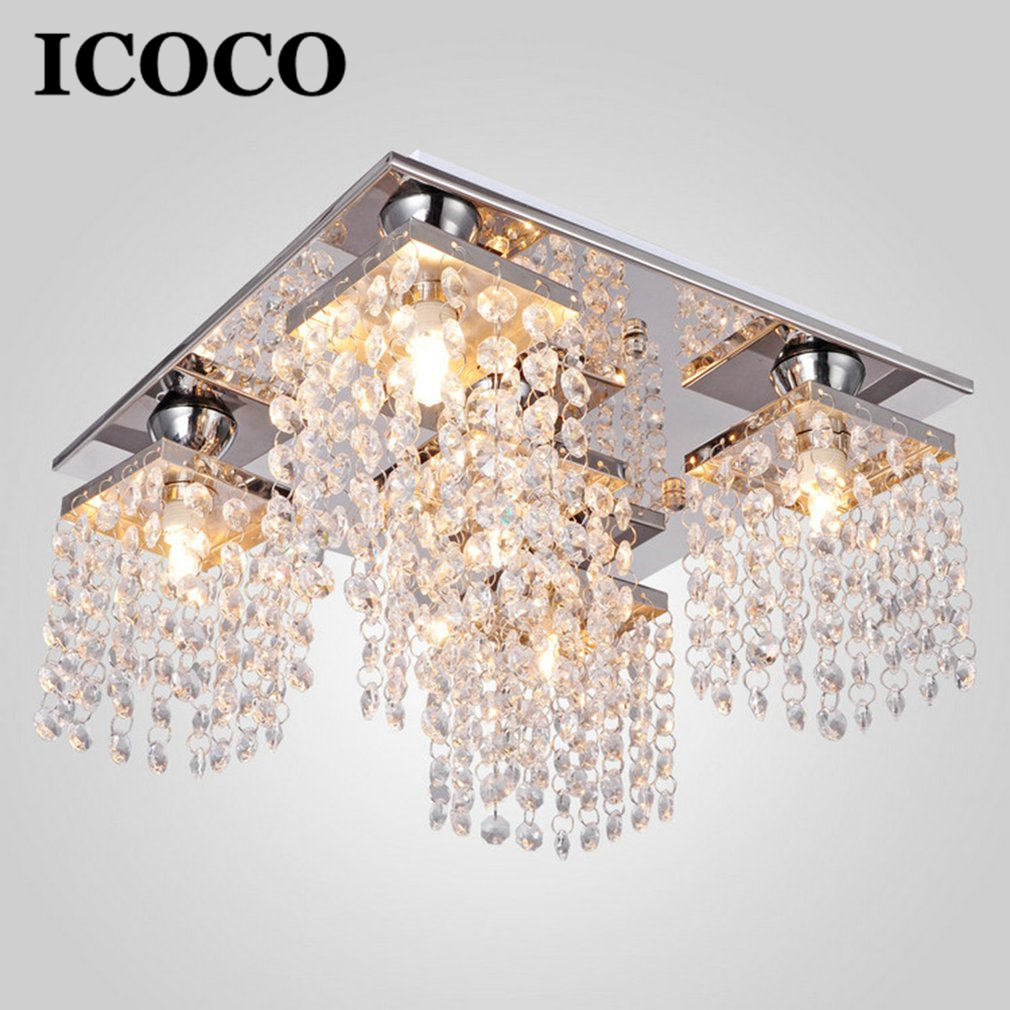 Us 51 6 25 Off Icoco 120v 5 Heads Chandelier Contemporary Light Elegant Crystal Pendant Home Decorative Lamp Modern Fixture Lighting In