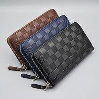 Fashion Men Wallets Long Design Square Boy Purse Business High capacity Bags