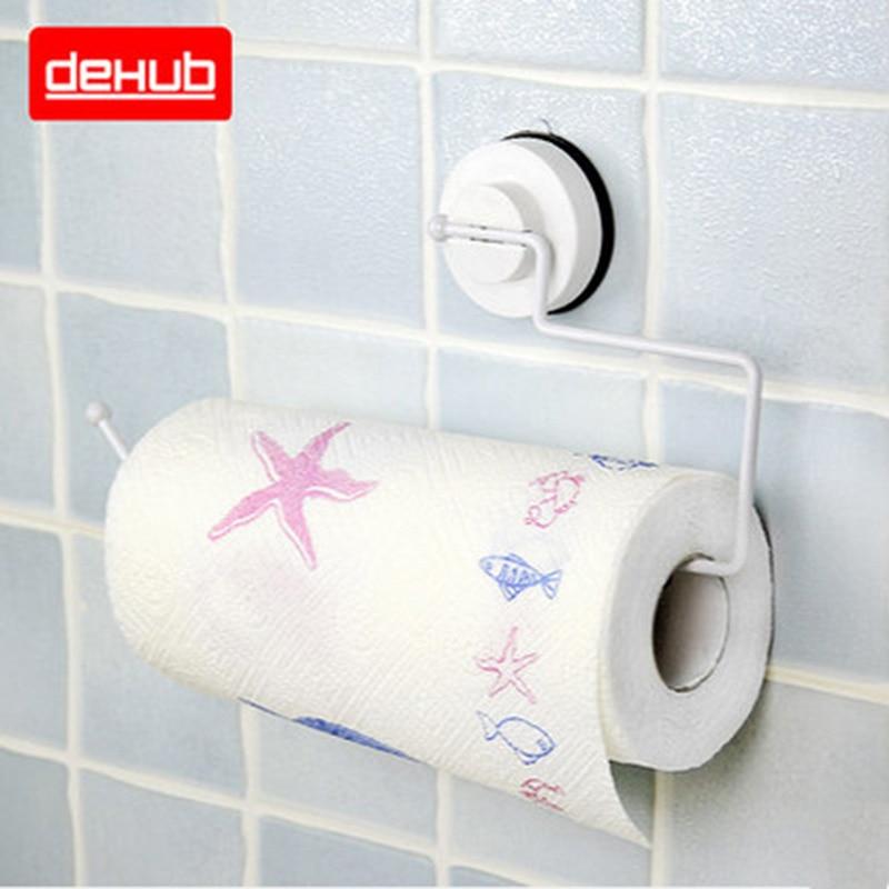 Edelstahl Saugnapf Küchenhandtuchhalter Toilettenpapierhalter - Haushaltswaren