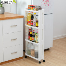 купить 4layer kitchen Organizer Storage Rack FridgeSide Shelf holder with Removable Wheels bathroom shelf shower storage rack Gapholder по цене 1302.8 рублей
