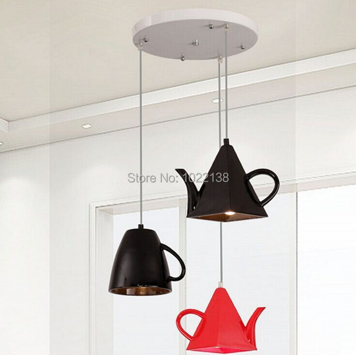 Modern Resin Teapot Pendant Lights Tea Cup Pendant Lamp