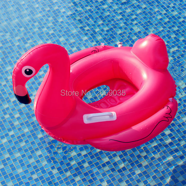 70cm Baby Pink Flamingo Swimming Ring 2017 White Swan Kids Ride-on Water Toys Inflatable Unicorn Pool Float For Children Piscina