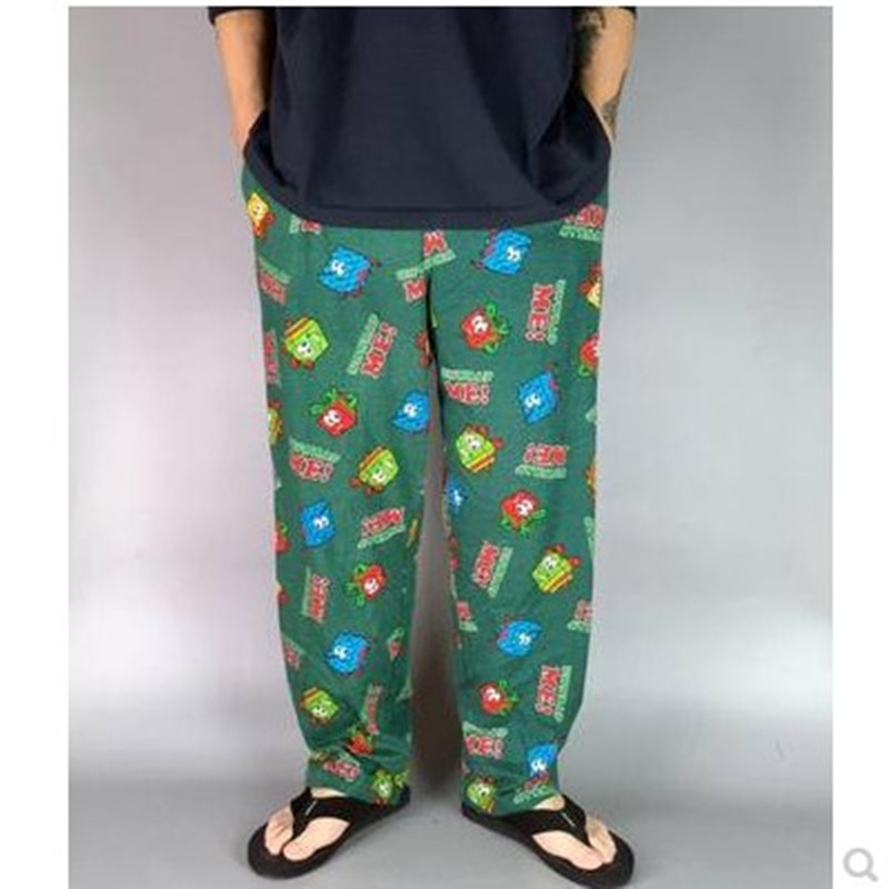 Pants For Men Trousers Cotton Pants Straight Sleep Bottoms