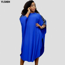 Африканские платья для женщин Дашики с блестками африканская одежда высокого качества Grand Boubou Africain модное Африканское платье для женщин