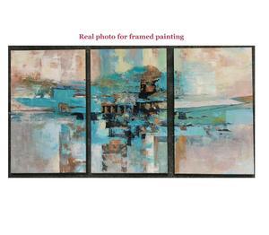 Image 3 - 3 stuk olieverfschilderijen op canvas turquoise schilderijen decoratieve muur schilderen canvas pictures voor woonkamer moderne abstracte kunst